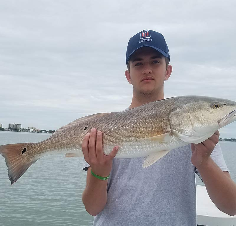 Redfish caught during Skinny Water Charters inshore charter fishing in Clearwater